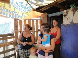 slum housing on the dump in Honduras