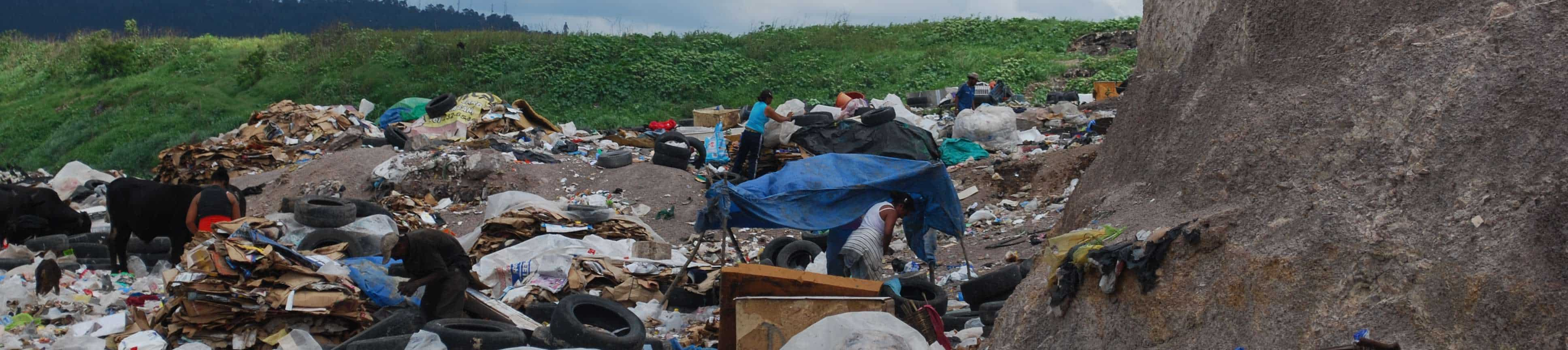 living in the dump