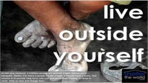 Live outside yourself - feet