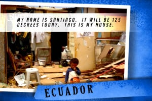 This is my House in Ecuador Blue | Shelter The World