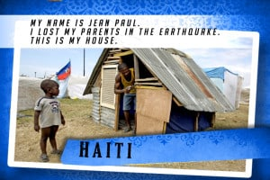 This is my House in Haiti Blue | Shelter The World