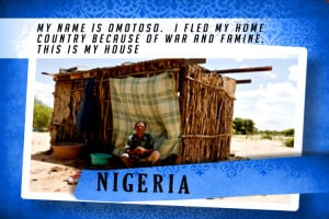 This is my House in Nigeria Blue | Shelter The World
