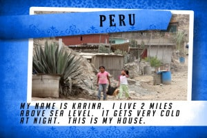 This is my House in Peru Blue | Shelter The World