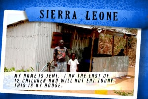 This is my House in Sierra Leone Blue | Shelter The World