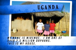 This is my House in Uganda Blue | Shelter The World