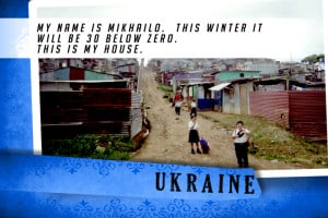 This is my House in Ukraine Blue | Shelter The World