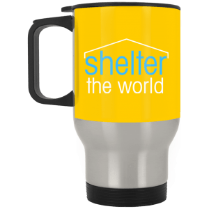 Silver Stainless Travel Mug for CHARITY