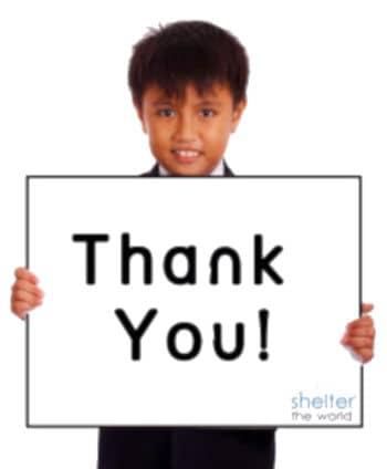 thank you volunteer
